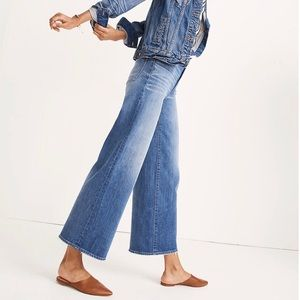 Madewell • Wide Leg Crop Jeans Finney Wash